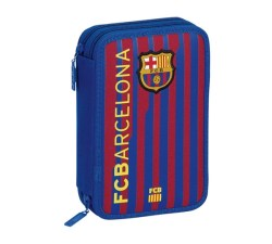Barcelona Small Double Filled Pencil Case With 34 Pcs-411225054