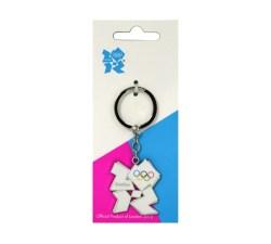 Olympic White Emblem Keyring