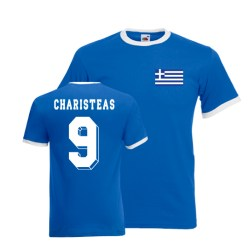 Angelos Charistas Greece Ringer Tee (blue)