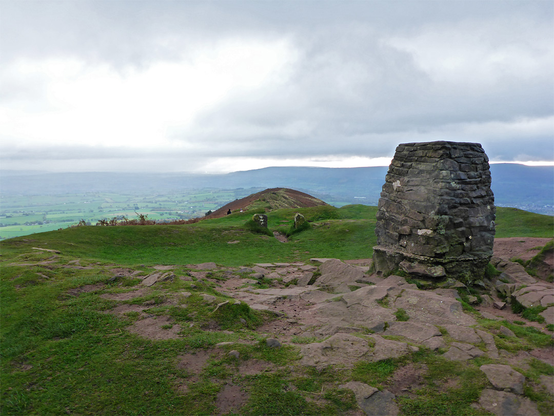 Photographs of Skirrid Fawr. Monmouthshire. Wales: The summit