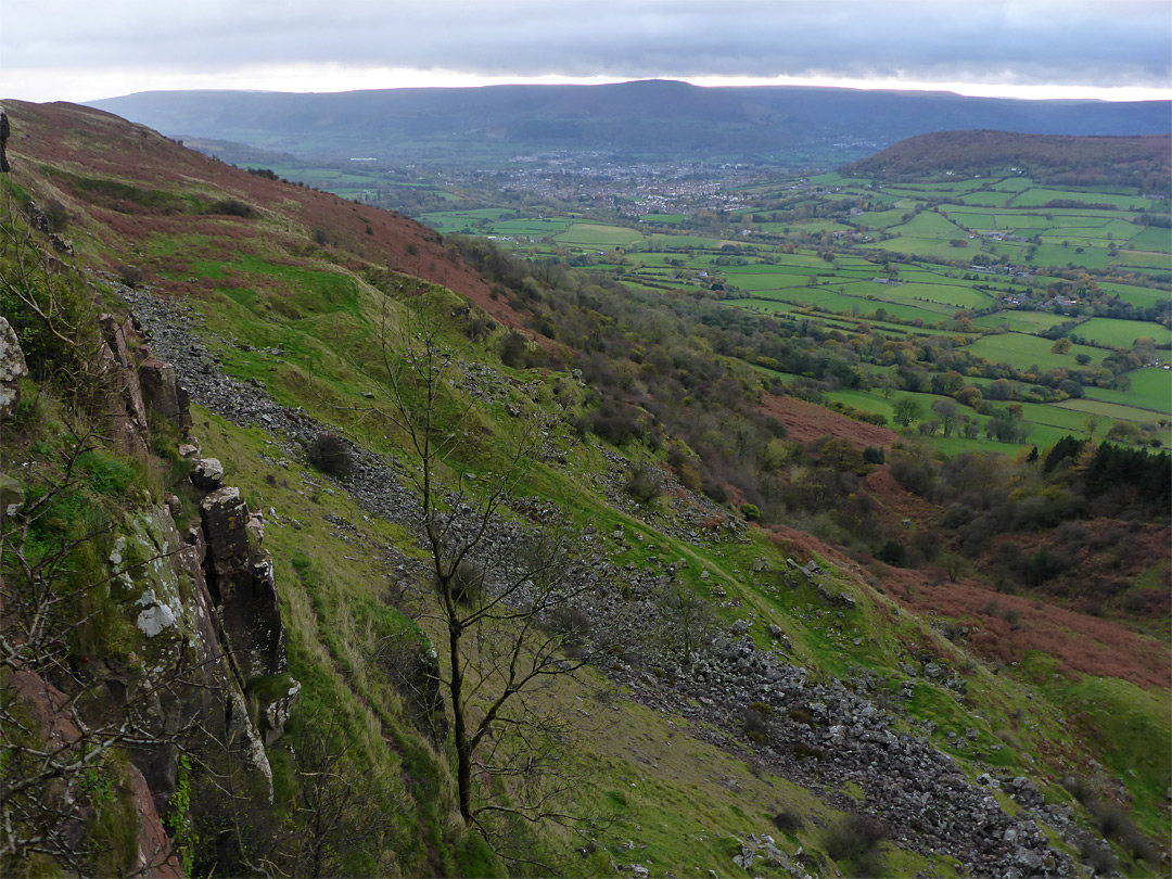 Photographs of Skirrid Fawr. Monmouthshire. Wales: West side of the mountain