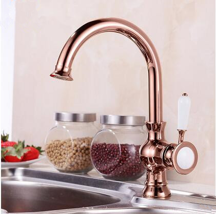 led kitchen faucet pull out drawers for cabinets antique brass rose gold sink tap ta0218r [ta0218r ...
