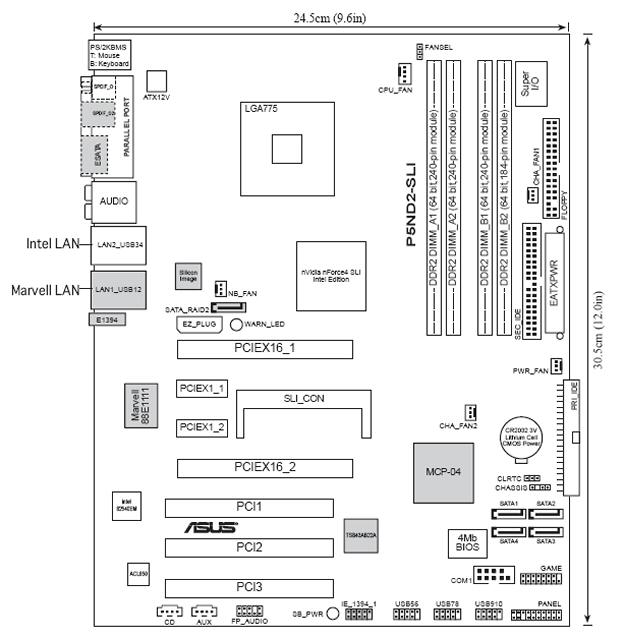 motherboard diagram with labels custom