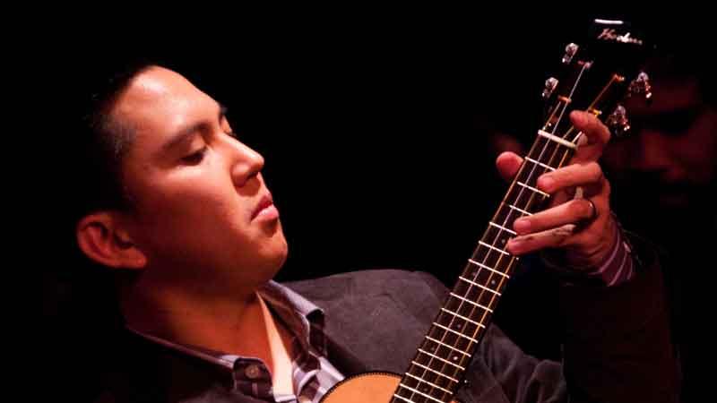 abe lagrimas jr ukulele player