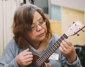 Helen Chan strums her Kala