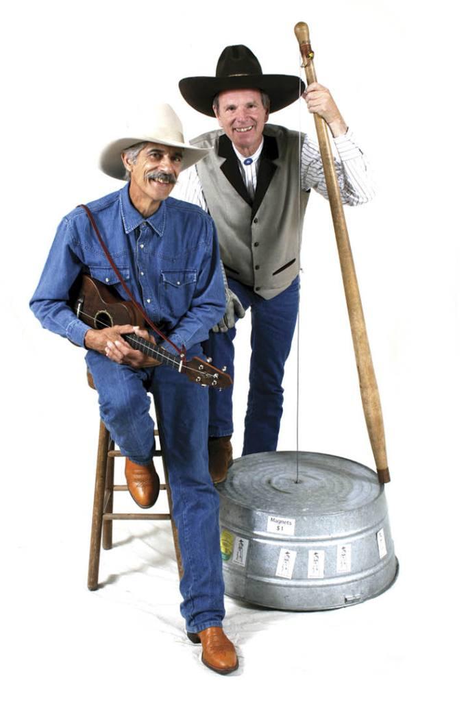 Sid Sid Hausman with Washtub Jerry,  his collaborator on Blue Horizon