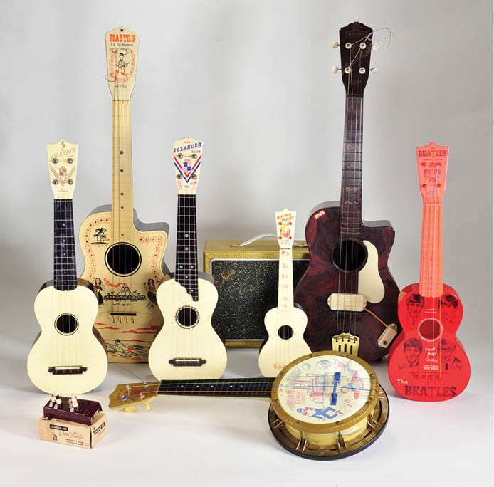 Ukulele Instruments made of plastic