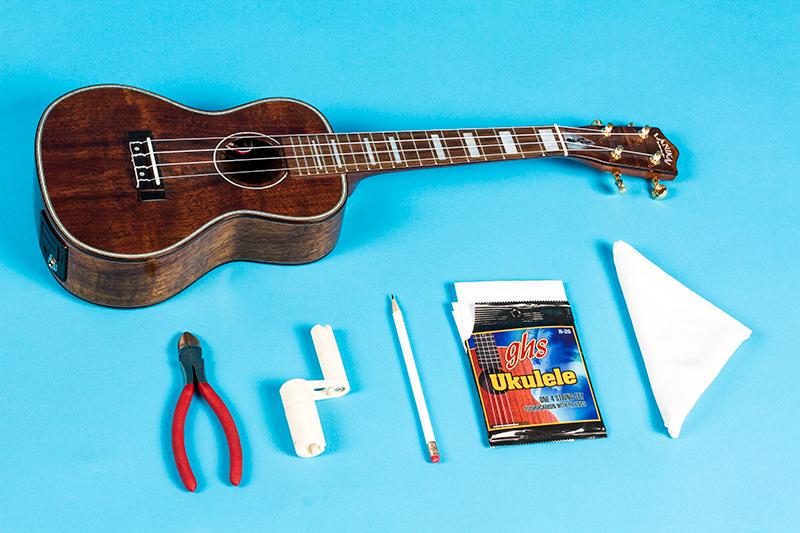 How to change ukulele strings tools needed