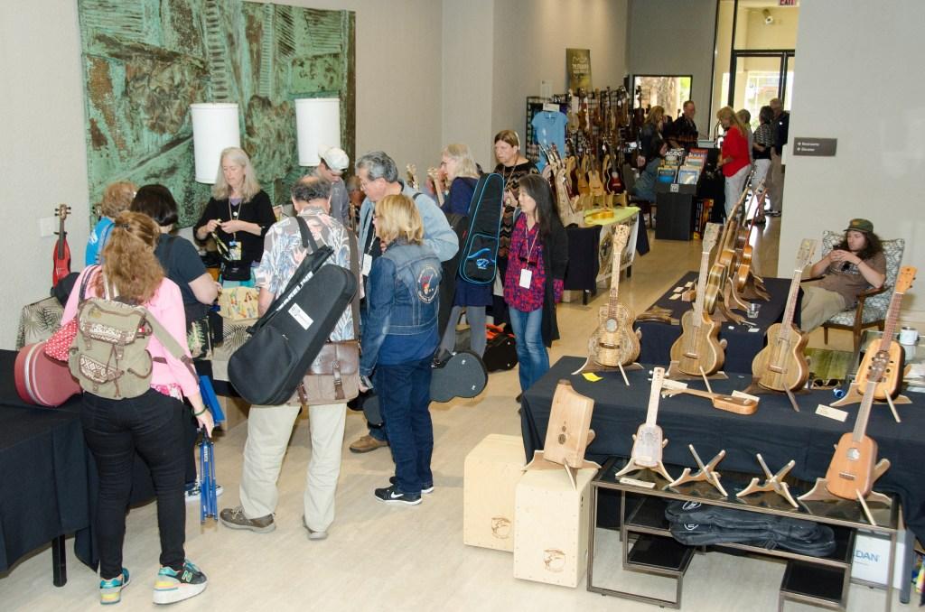 Extensive Vendor Area. Photo Kelly Anderson/Palm Strings Uke Fest