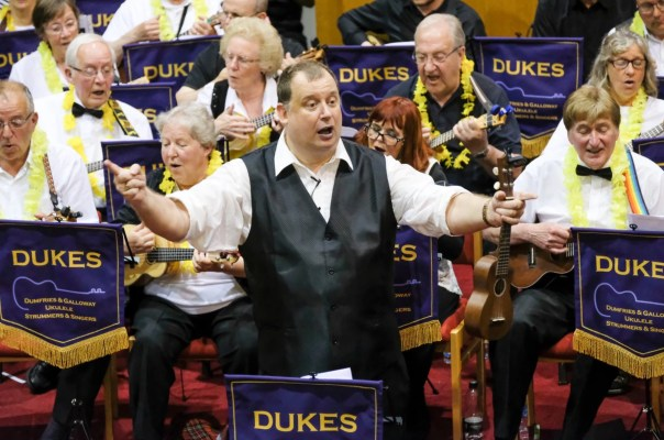 Stuart Butterworth of the DUKES (Dumfries & Galloway Ukulele Strummers and Singers)