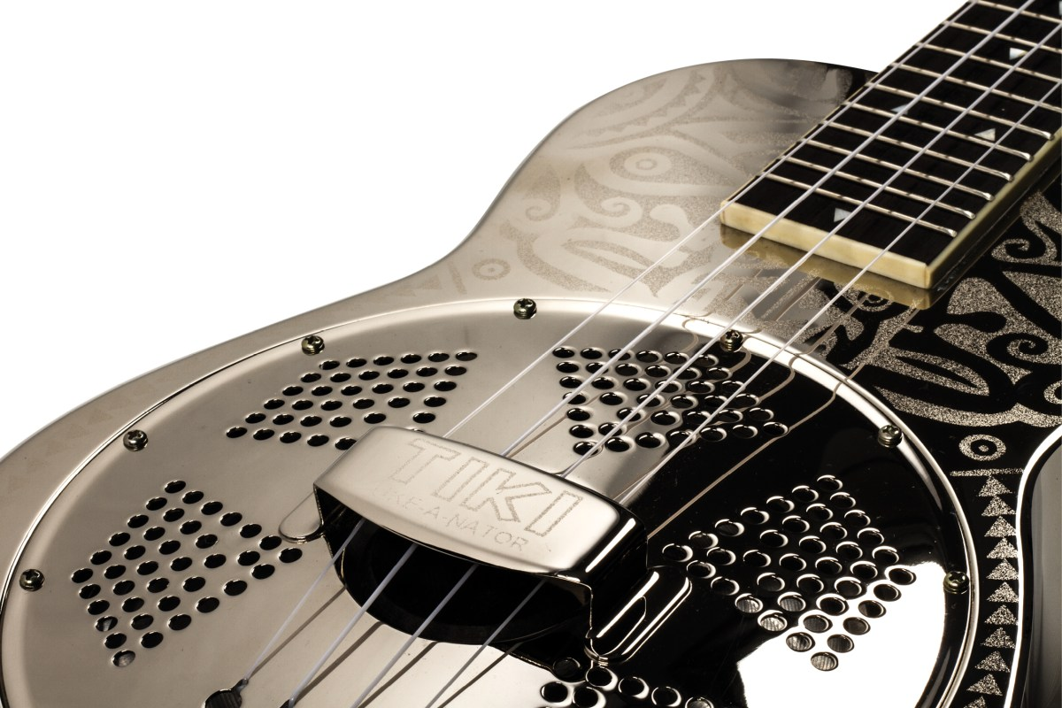 Luna Uke Tiki Concert Resonator Chrome Review Ukulele Magazine