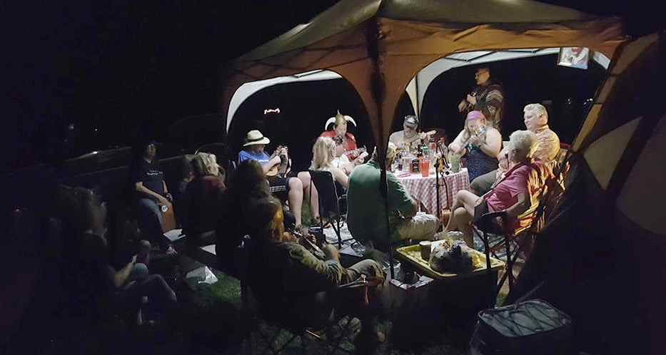 Ohio Ukulele Campout Terry Wajda's Porch Jam