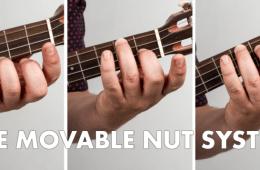 The Movable Nut System of Ukulele Chord Shapes