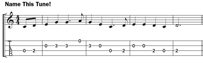 Pentatonic scale ukulele lesson music notation example 3