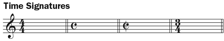 ukulele musical notation time signatures