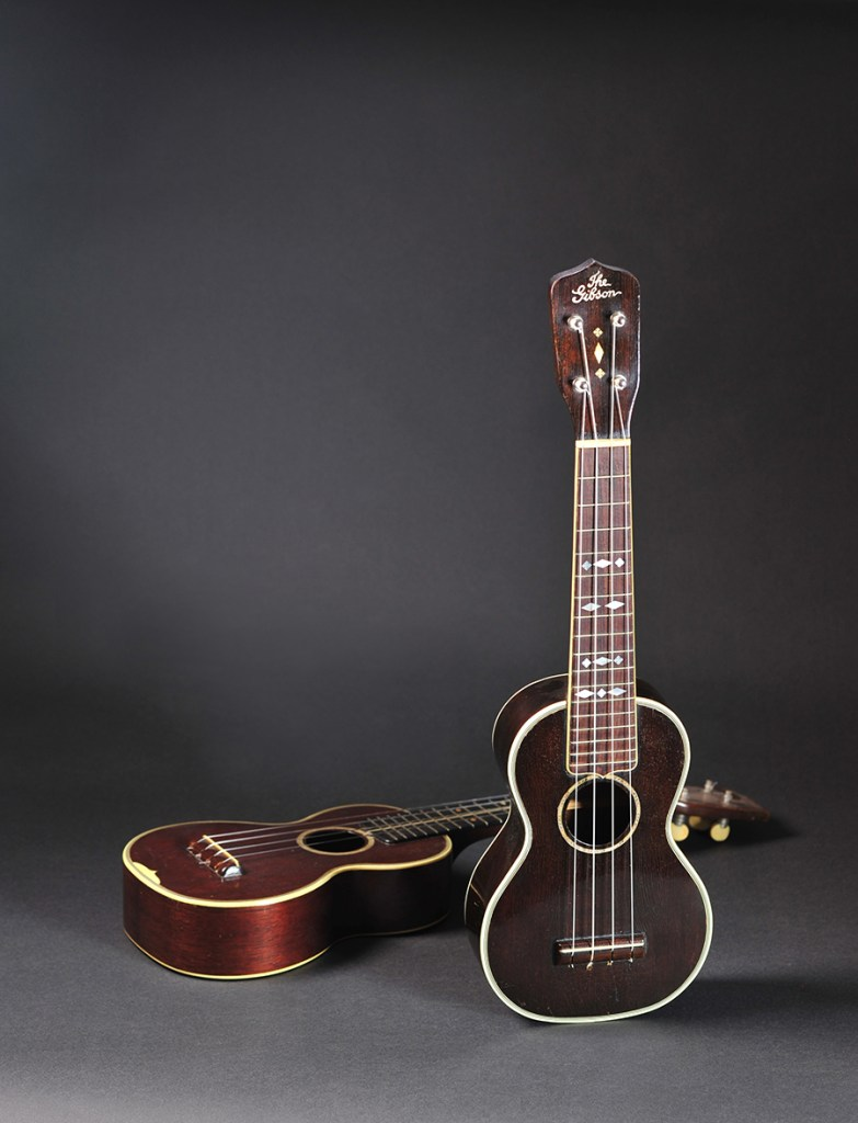 Gibson Style 3 with Martin 3 in background