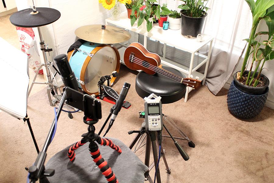 Ukulele home recording microphone comparison