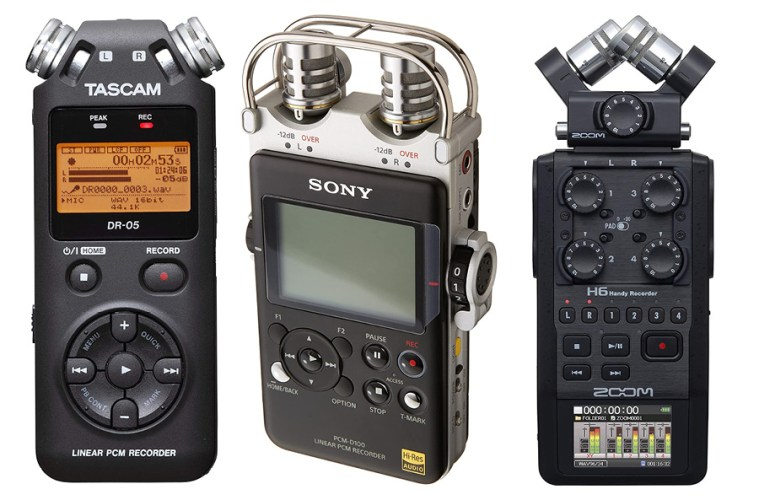 handheld flash recorders