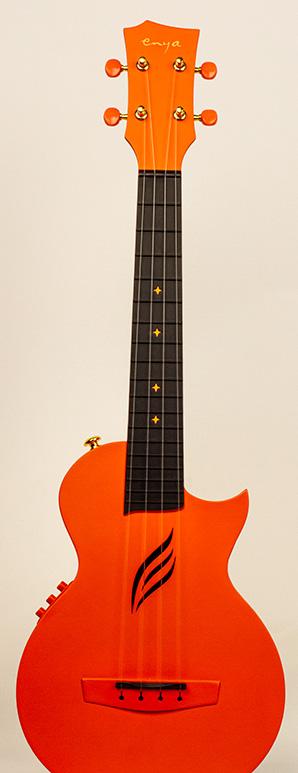 nova carbon orange ukulele