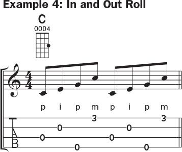 Ukulele banjo rolls example 4