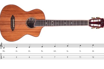 ukulele and musical scale notation