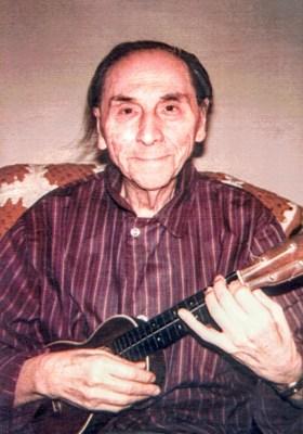 Ukulele master Roy Smeck in the late 1980s.