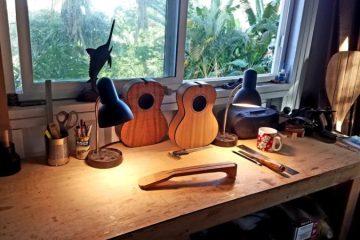 Little River ukuleles workbench