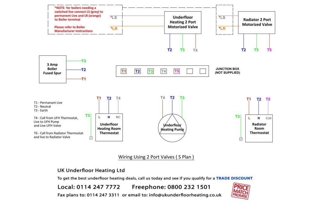 single zone underfloor heating wiring diagram