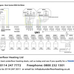 Central Heating Wiring Diagram Gravity Hot Water Delco Cs130 Alternator Underfloor Diagrams Uk Up To A 4 Zone System Show