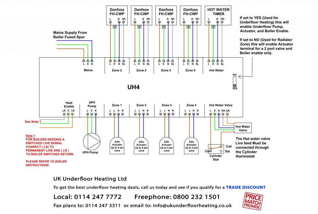 wiring diagram for underfloor heating and radiators john