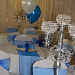 Wedding Chair Cover Hire Cannock Leg Pads For Hardwood Floors H And Celebrations Venue Decorators White Royal Blue Dressing