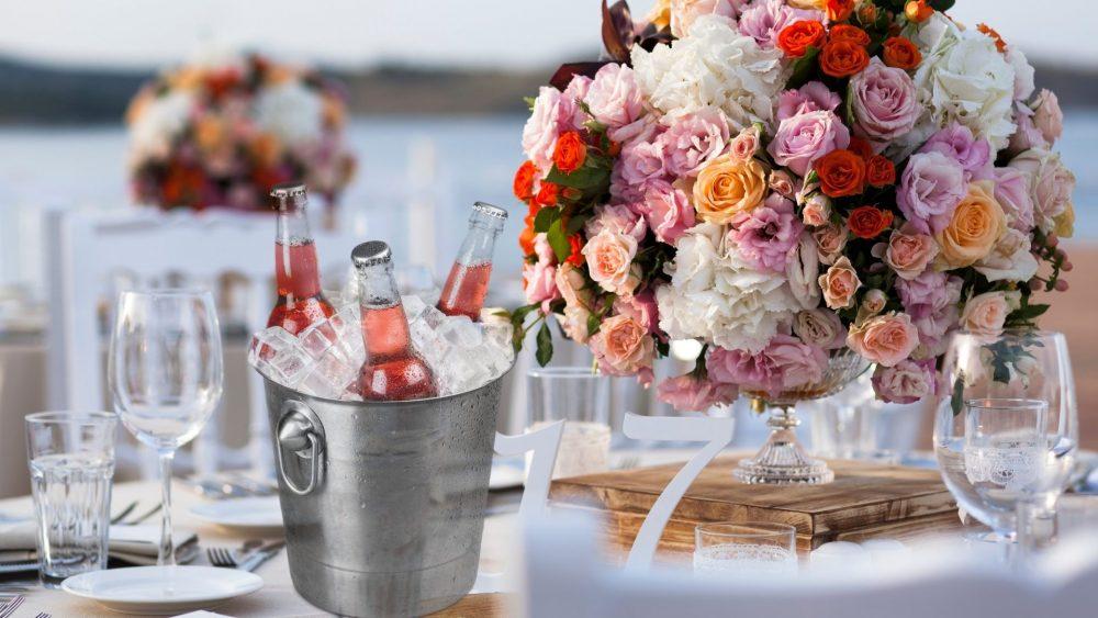 beer at wedding reception