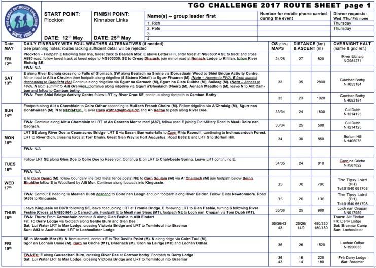 TGO Route 2017 Page 1