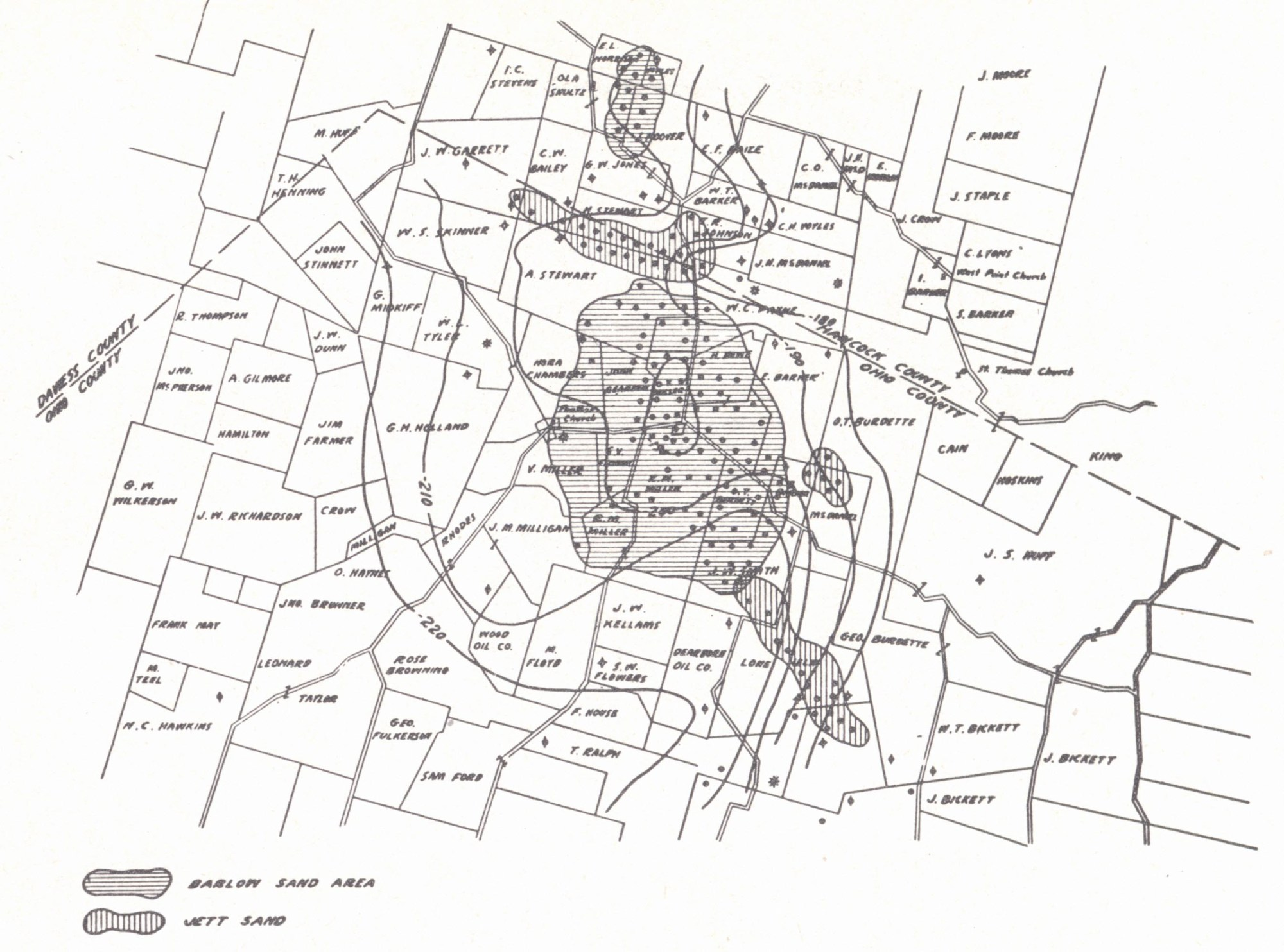 hight resolution of structure map ambrose weller pool ohio county contoured on the top of the vienna brown lime limestone shiarella 1933 the occurrence of oil i