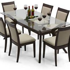 Glass Top Kitchen Table Teal Rugs Wesley 6 Seater Dining Urban Ladder Dalla Set