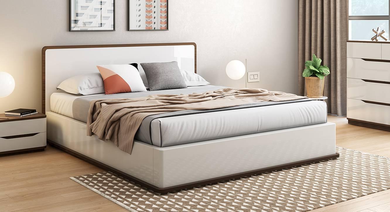 baltoro high gloss hydraulic storage white bed