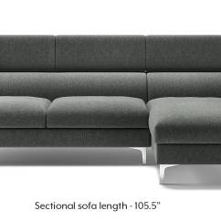 Easy To Clean Sofa Material Armen Living Dallas Chelsea Adjustable Sectional Grey Urban Ladder None Custom Set Sofas
