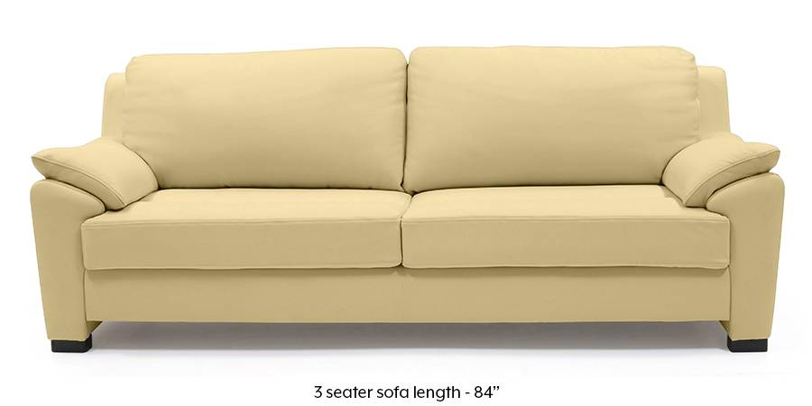 moods 3 seater leather sofa bed how to fix tear in faux farina half cream italian urban ladder regular size