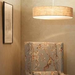 Ceiling Lights For Living Room India Open Plan Kitchen Dividers Urban Ladder Halo Light Single Arrangement Natural Linen Shade Finish
