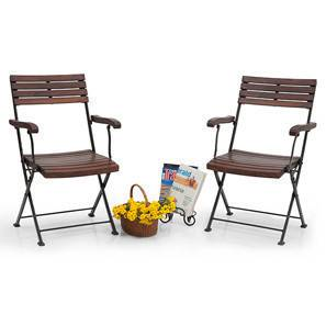 black metal folding garden chairs blue patterned dining balcony buy online in india masai arm set of two teak finish