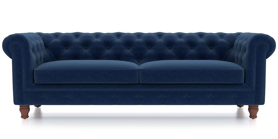 leather vs fabric sofa india wooden set price in chennai winchester cobalt blue urban ladder material regular