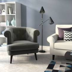 Designer Chairs For Living Room Kitchen Layout Ideas Lounge Buy Online In India Urban Ladder Bardot Chair Charcoal Grey By