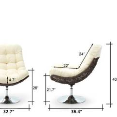 Revolving Easy Chair Rustic Leather Dining Chairs Calabah Swivel Lounge Urban Ladder Cream 09 10