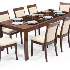 Glass Top Kitchen Table Cabinet Hutch Vanalen 6 To 8 Extendable Dalla Seater Dining Set