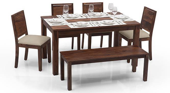 bench for kitchen table round and chairs set arabia oribi 6 seater dining with urban ladder