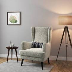 Chairs For Living Room India Tuscan Furniture Collection Lounge Buy Designer Online In Urban Ladder Genoa Wing Chair Monochrome Paisley By