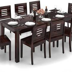 Kitchen Table Sets Island With Bar Seating Arabia Xxl Capra 8 Seater Dining Set Urban Ladder Mahogany Finish By
