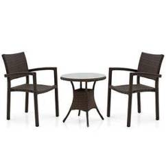 Patio Chairs For Cheap Steel Chair Singapore Balcony Buy Garden Online In India Danum Calabah Set Brown By Urban Ladder