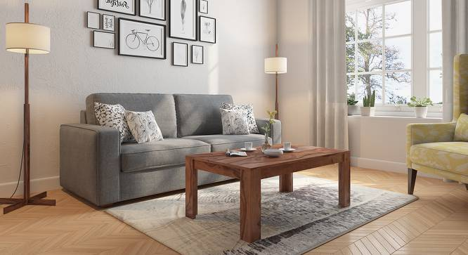 no coffee table living room pictures of rooms striado urban ladder teak finish without shelves configuration by