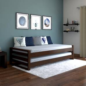 living room mattress india design brown leather sofa single beds buy wooden online in urban ladder yuri stackable bed dark walnut finish by